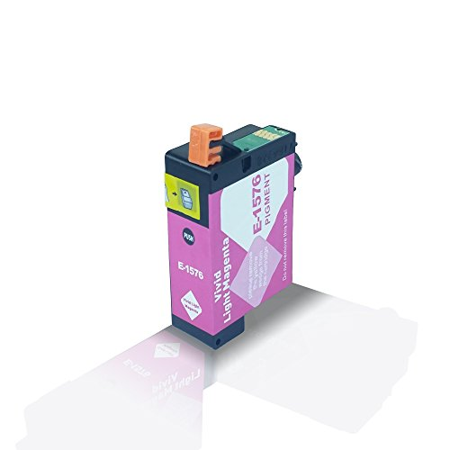 R3000 Light (Kompatible Tintenpatrone Light Magenta für Epson Stylus Photo R3000 R 3000 Hell Magenta T1576 T 1576 C13T15764010 - Eco Office Serie)