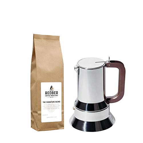 Alessi Espressokocher Moka Pot von Richard Sapper für 3Tassen mit 250g Kaffee - Alessi Espresso Coffee Maker