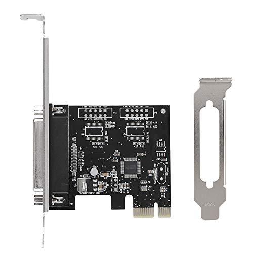 Tarjeta expansión puerto paralelo PCIE DB25 LPT soporte