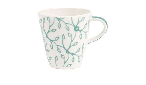 Villeroy /& Boch Caff/è Club Floral Peppermint Kaffeeuntertasse 14cm