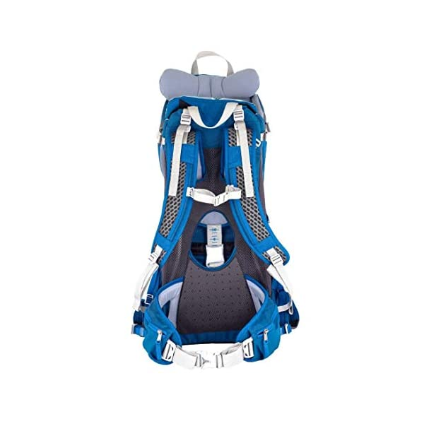 "LittleLife Unisex's Freedom S4 Child Carrier (blue) Back, One size LittleLife Anatomically shaped child seating area, with neck support and soft face pad Includes rear view mirror, sun shade and Foot stirrups Suitable for adults 1.57 - 1.87M/ 5'2"" - 6'4"" 5"