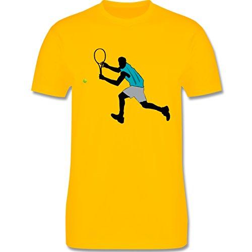 Tennis - Tennis Squash Rückhand - Herren Premium T-Shirt Gelb