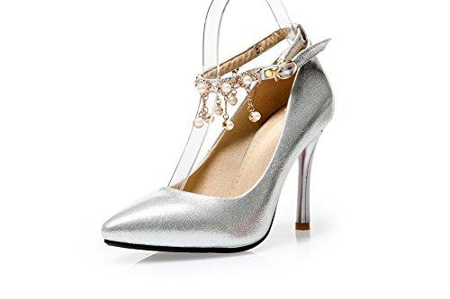1to9, Silver Chaussures À Talons Hauts Pour Femmes