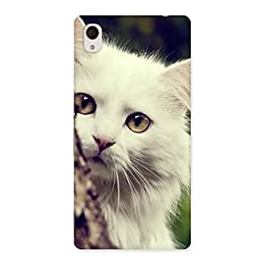 Gorgeous Cat Hide Back Case Cover for Sony Xperia M4