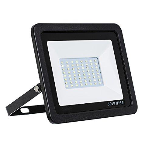 LED Strahler, LED Fluter, SLIM 50 Watt Neutralweiss LED Flutlicht, 50W 4500 Lumen 4000K, 220-240V, LumenTEC (50W NEUTRALWEISS)