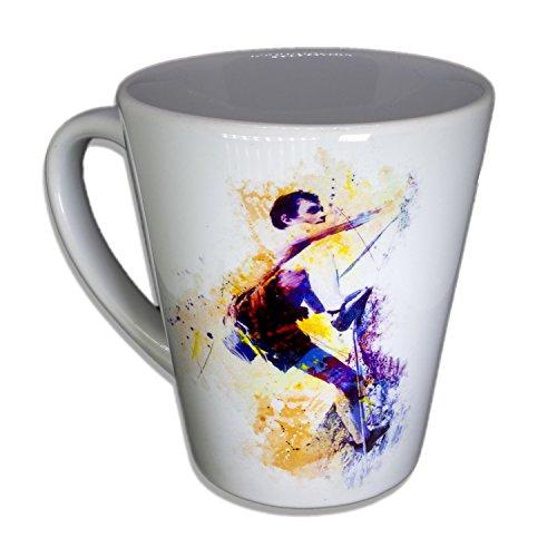 Klettern II - Handarbeit Designer Tasse aus brillanten Porzellan Unikat - Tasse, Becher, Kaffeetasse, Teetasse Keramik Tasse, 330ml, Geschenk für Freunde