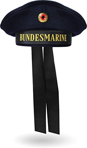 Bundeswehr Marinemütze Matrosenmütze Tellermütze mit Kokardeabzeichen Farbe Blau Größe 3XL