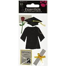 Sandylion Essentials - Juego de pegatinas con diseño de graduación (birrete, toga, diploma, etc.)