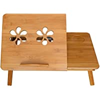 MERVY - LA MOINS CHERE D'AMAZON ! Table de lit pliable pour PC portable/notebook + tiroir. Plateau de petit déjeuner - le petit déjeuner au lit.Table d'ordinateur portable pour le lit / pour canapé, Ajustable, Support pour ordinateur portable, en bois, Table pour lecture, Support ,Table pliante
