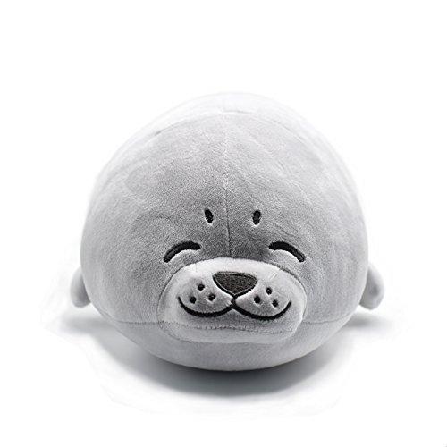 SUNYOU Cuscino Foca di Peluche 45*25*15cm Imbottito Animale Mare