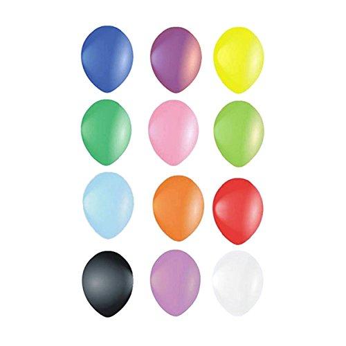 PIXNOR ' 100Luftballons Parteien Pack Luftballons Metallic Farben Buntmix 1025cm (zufällige Farbe) (Und Parteien Luftballons)