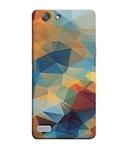 PrintVisa Designer Back Case Cover for Oppo Neo 7 :: Oppo A33 (Illustration Wallpaper Art Background Decoration Geometric)
