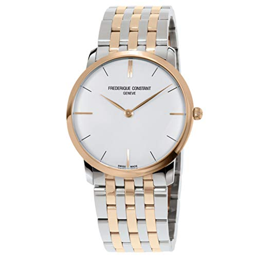 Frederique Constant Men's 39mm Two Tone Steel Case Quartz Watch FC-200V5S32B