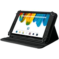 Odys X100019 Universal-Schutzhülle mit Standfunktion (IEOS Quad, Ieos Quad weiß, IEOS Quad 10 pro, Ieos Quad Pro, Notos Plus 3G, hochwertiges Kunstleder, geeignet für 10,1 Zoll Tablets) schwarz