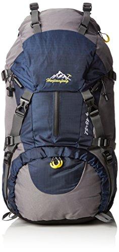 Imagen de lixada   con funda impermeable para deporte, senderismo, trekking, camping, alpinismo y escalada, 45 l + 5 l, azul