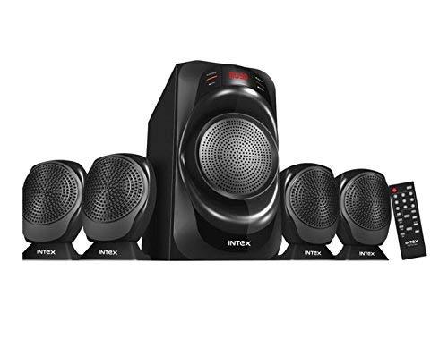 Intex IT-2700-FMU 4.1 Channel Multimedia Speakers (Black)