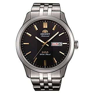 Orient Reloj Analógico para Hombre de Automático con Correa en Acero Inoxidable RA-AB0013B19B