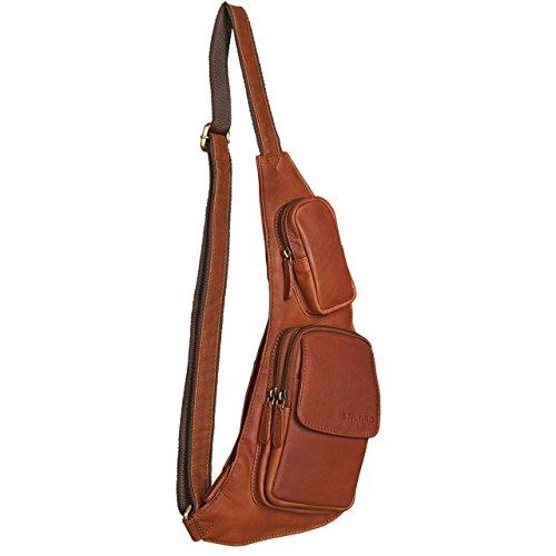 Stilord Adrian Chest Bag Bum Bag Zaino Tracolla Borsa Fotografica Borsa Da Viaggio Borsa Da Viaggio In Pelle Da Donna Mens Vera Pelle Marrone Cognac - Marrone