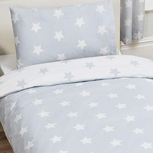 Price Right Home - Juego de funda de edredón y funda de almohada para cama individual, diseño de estrellas...