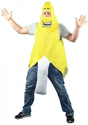 Foxxeo 40246 I Banane Bananenkostüm Frucht geschälte JGA Bananen Kostüm für Herren und Damen Gr. M-XL, - Geschälte Banane Kostüm