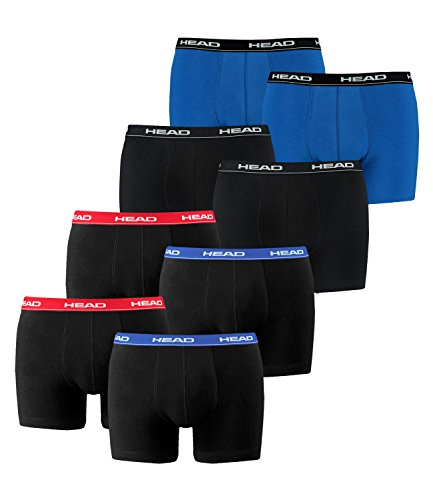 HEAD Herren Boxershorts 841001001 8er Pack 2x red/blue 1x black 1x blue