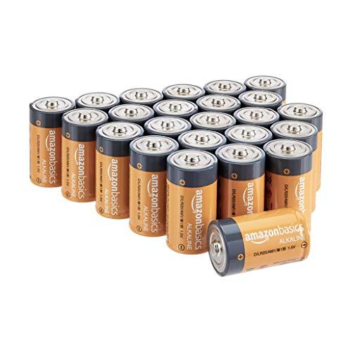AmazonBasics - Everyday Alkalibatterien Typ D (24 Stück)