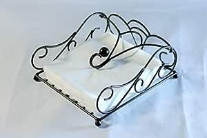 Worthy Shoppee Wood Iron Modern Napkin Holder (Brown)