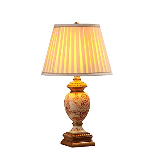 personnalité simple Style américain rural lampe de table chambre à coucher lampe de chevet rétro rural Creative Warm Living Room