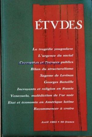 ETUDES du 01/04/1993