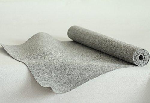 Bastelfilz Filzmeterware Dicke 2mm Filzstoff Dekorationsfilz weich 140x50cm Grau