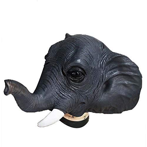 GZQUANEU Cabeza de máscara de Elefante Cubierta de Cabeza de Parodia cos Elefante asiático de Halloween Máscara de Animal Divertido ( Color : Elephants , Size : One Size )