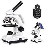 TELMU Mikroskop Optisch 40-1000X - Biologisch Monocular Mikroskop mit LED