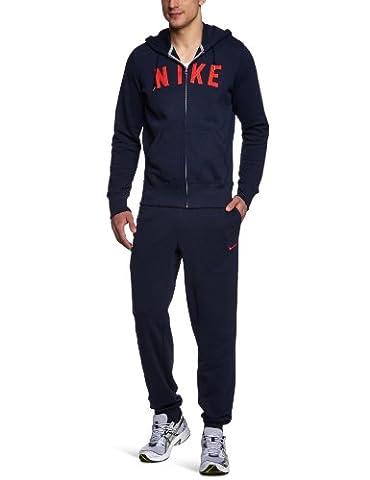 NIKE sweat-shirt à capuche pour homme full zip aD fT warm up S Bleu - dark obsidian/dark obsidian/hyper red