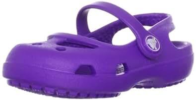 Crocs Shayna G, Mädchen Durchgängies Plateau Ballerinas, Violett (Neon Purple 518), 22/23 EU