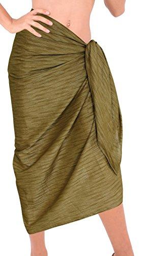 Badeanzug Frauen Pareo Wickelrock Badebadebekleidung Sarong Bikini-Vertuschung-Kleid sundress Gr�n