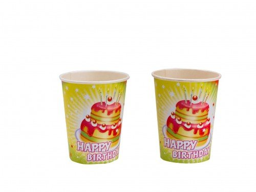 Amscan - 551700 - 8 vasos Happy Birthday - 266 ml