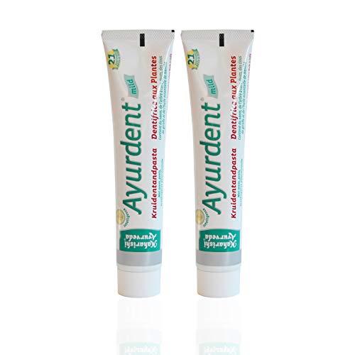 yurveda Kräuter Zahncreme Mild (2 X 75 Ml), Milder Kräutergeschmack, Bio Zahnpasta, Vegan, Fluoridfrei, Naturkosmetik ()