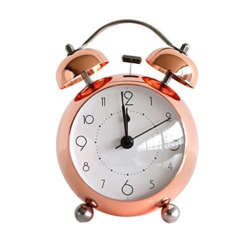 Despertador Plating Alarm Clock Vintage Metal Bell