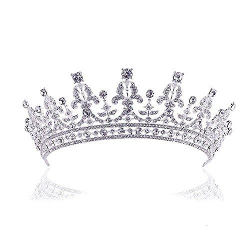 ROSENICE Diadem Hochzeit Krone Tiara Braut Strass Haarreifen (Kostüm Krone Diadem)