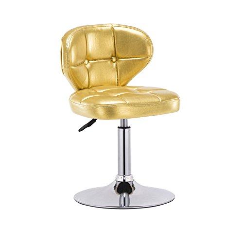Hocker YANFEI Bar Chair Rückenlehne, Armlehnen, Chrom Fußstützen und Basis Frühstück Bars, Theken, Küche und Zuhause (Farbe : Gold) -