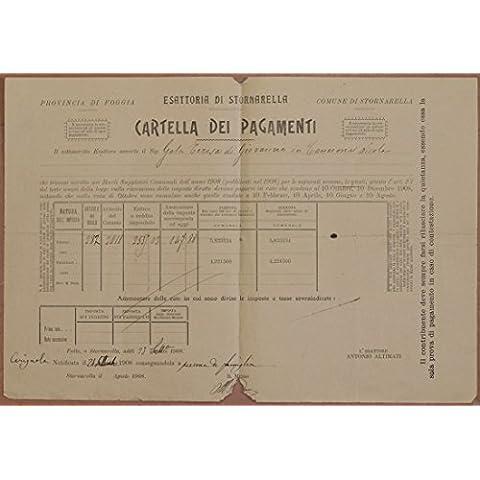 esattoria di stornarella cartella dei pagamenti 1898 1908
