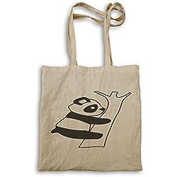 Oso Panda Negro 04 bolso de mano t252r