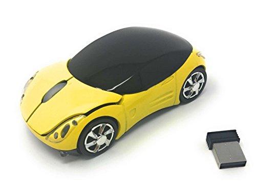 Ratón óptico inalámbrico IYUTtech con diseño ergonómico de coche,