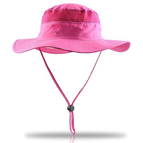 rnow Outdoor grande Brim Bucket Hat Quick-Dry e traspirante Mesh Pesca Cappelli, assorbente Sun Cap UPF50+, Uomo ragazza Bambino unisex donna, Peach, Misura unica