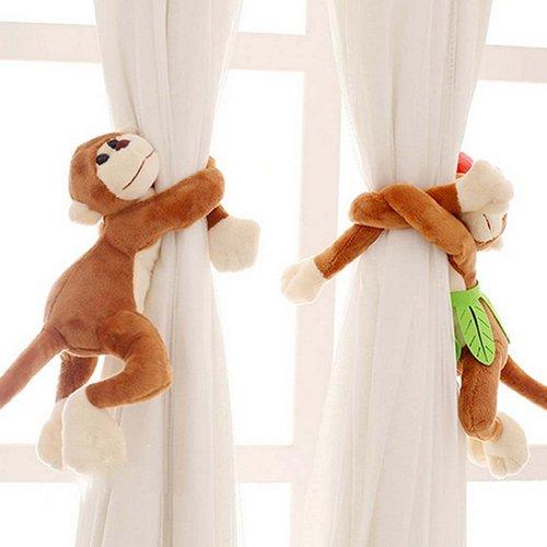 Homeofying - Ganchos para Cortinas con diseño de Mono, para decoración de Habitaciones de niños