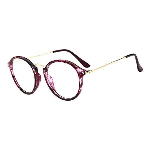 Deylaying Retro Kurz Entfernung Brillen Cat Eye Groß Runden Rahmen Kurzsichtigkeit Kurzsichtig Brille Blau Licht Filter Linsen (Stärke -1.5, Lila) (Diese sind nicht Lesen Brille)