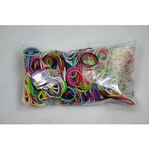 Official Rainbow Loom 600 Rainbow Refill Bands w/ C Clips