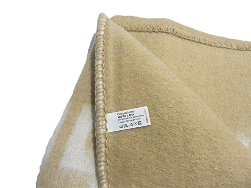 Coperta misto lana Bolzano 400 gr//mq dimensioni varie R323