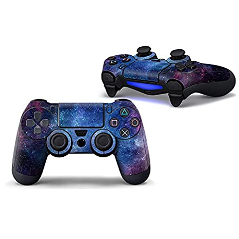 Morbuy PS4 Vinyle Skin autocollant Sticker Decal de Protection pour Sony Playstation 4 PS4 Slim PS4 Pro Dualshock Manette x 1 (Sky Deep Blue)