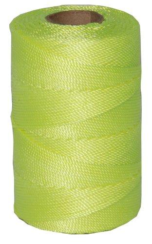 T.w. Evans Cordage 11–185 Number-18 Twisted Nylon Mason Ligne avec 550-feet Tube, Jaune fluorescent